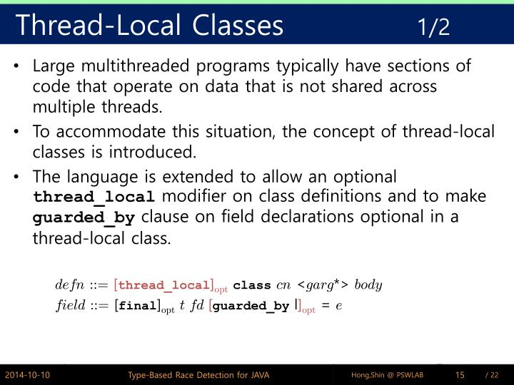 Thread-Local Classes