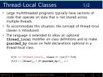 thread local classes 1 2