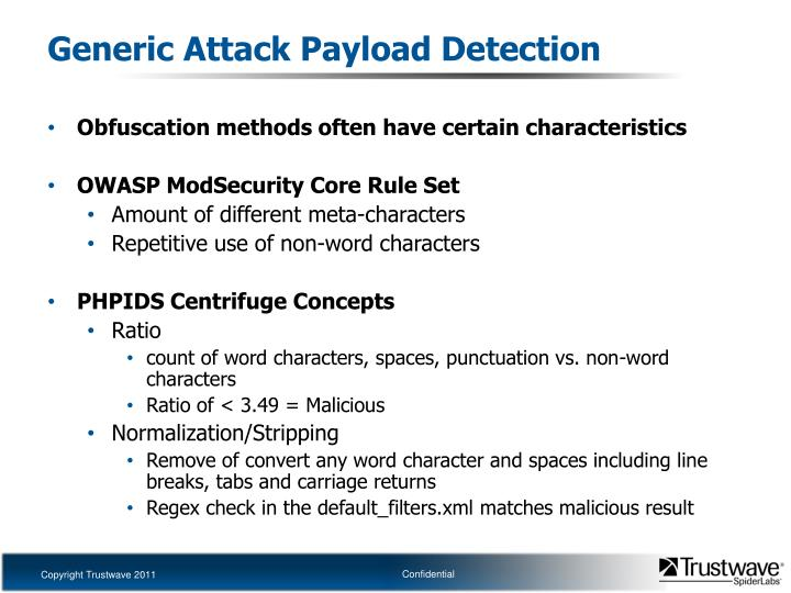 Generic Attack Payload Detection