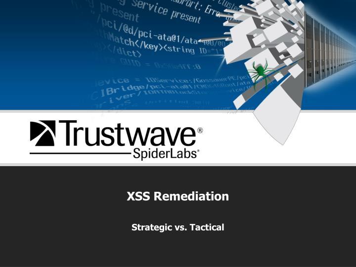 XSS Remediation