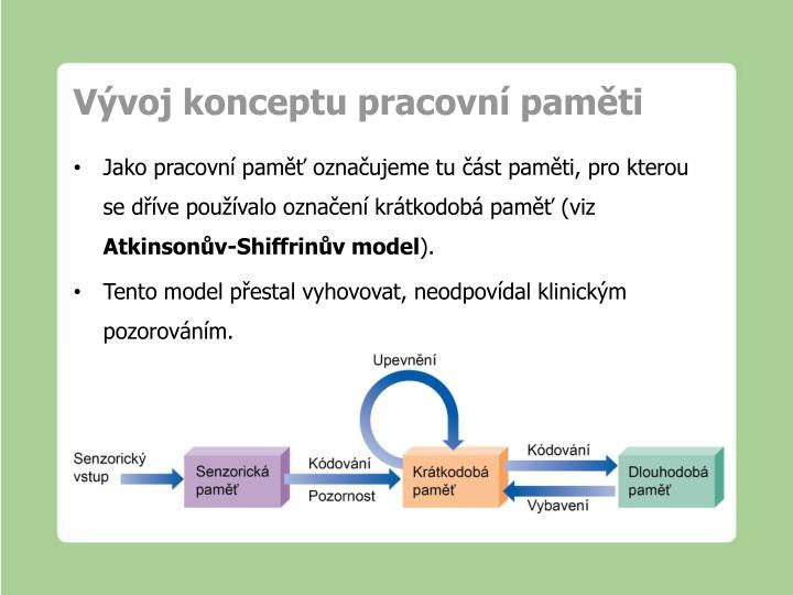 Vývoj konceptu pracovní paměti