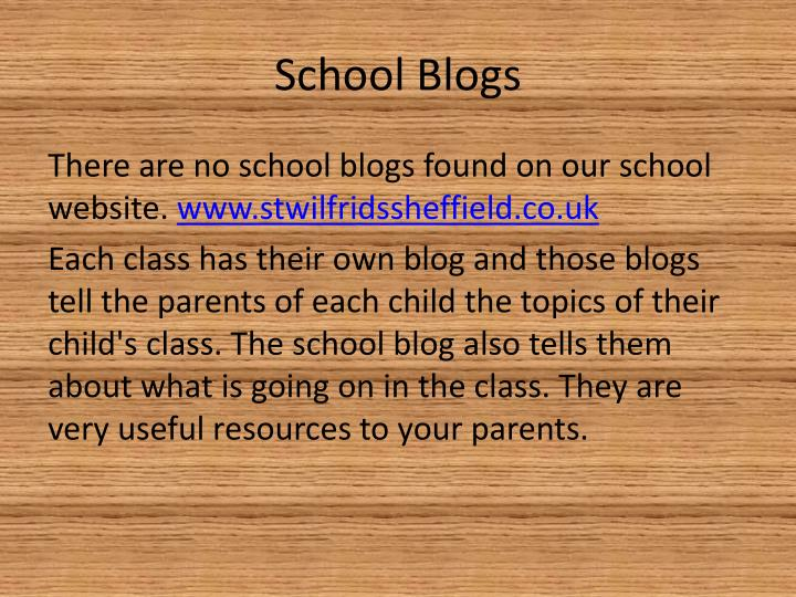 School Blogs