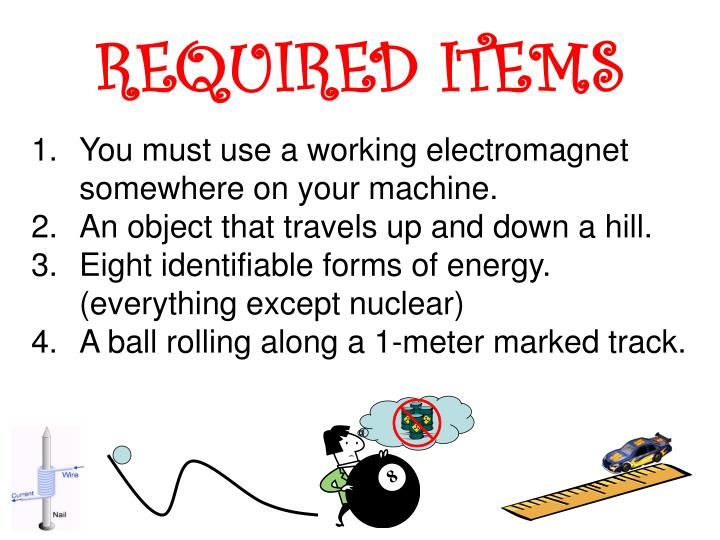 REQUIRED ITEMS