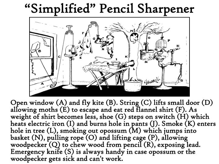 """Simplified"" Pencil Sharpener"