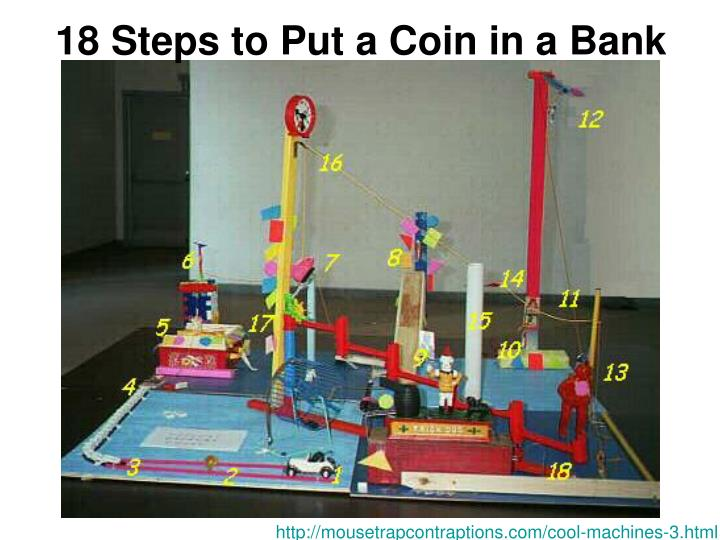 18 Steps to Put a Coin in a Bank