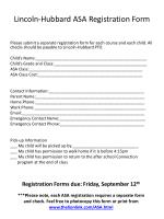lincoln hubbard asa registration form