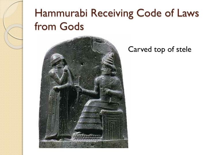 Hammurabi Receiving Code of Laws from Gods