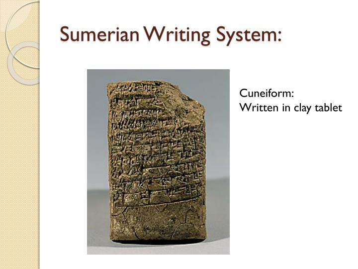 Sumerian Writing System:
