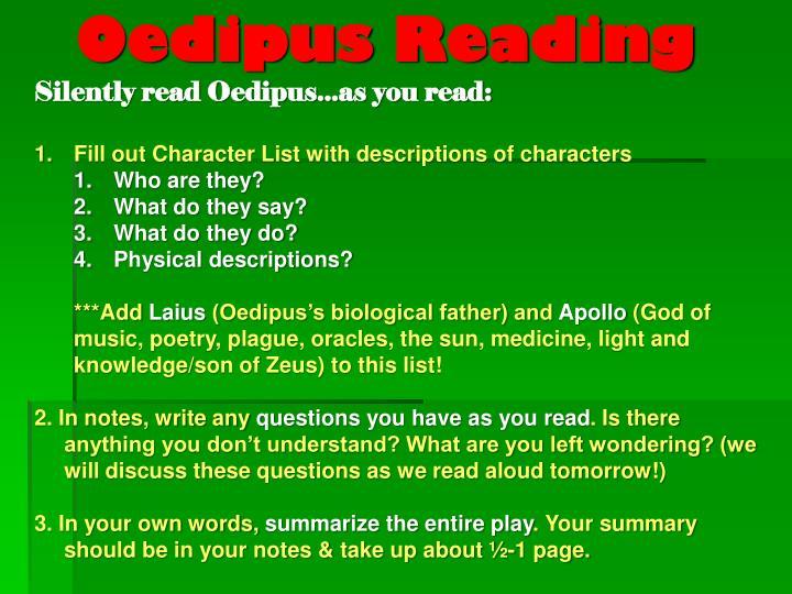 Oedipus Reading