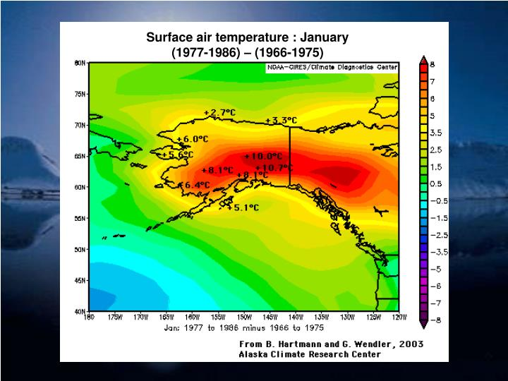 Surface air temperature : January
