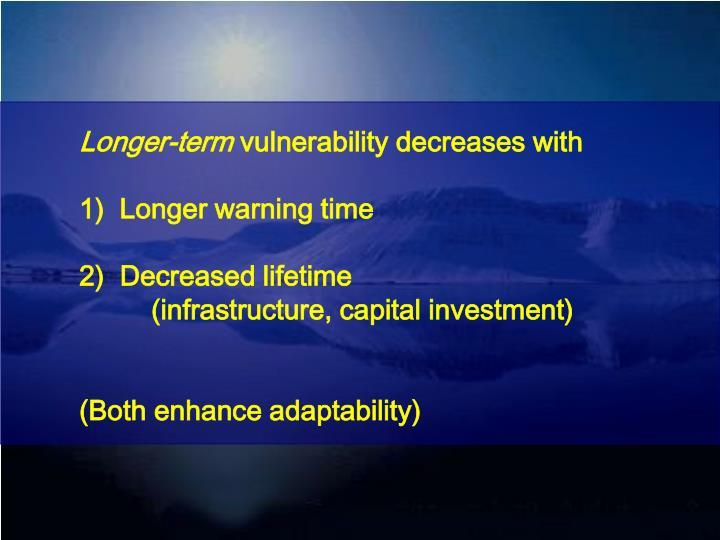 Longer-term