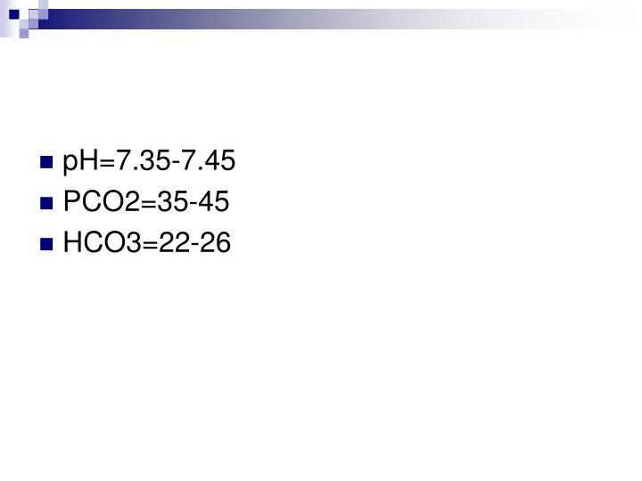 pH=7.35-7.45