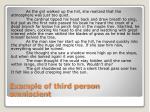 example of third person omniscient