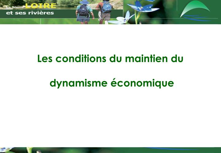 Les conditions du maintien du
