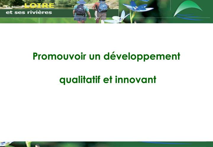 Promouvoir un développement