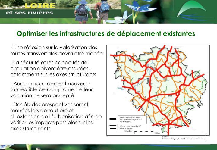 Infrastructure structurante pouvant faire l'objet d'une modernisation