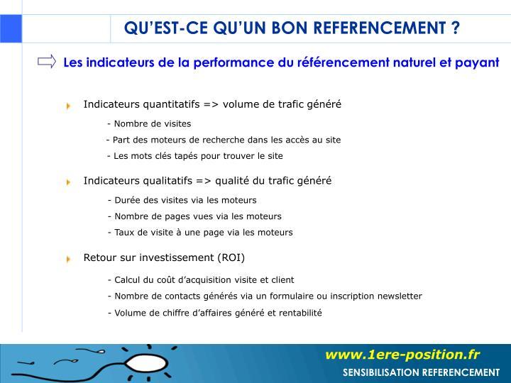 Les indicateurs de la performance du référencement naturel et payant