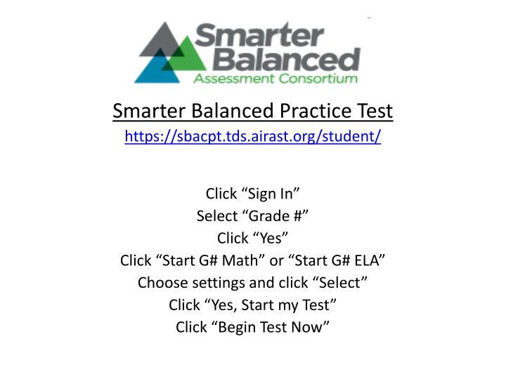 Smarter Balanced Practice Test