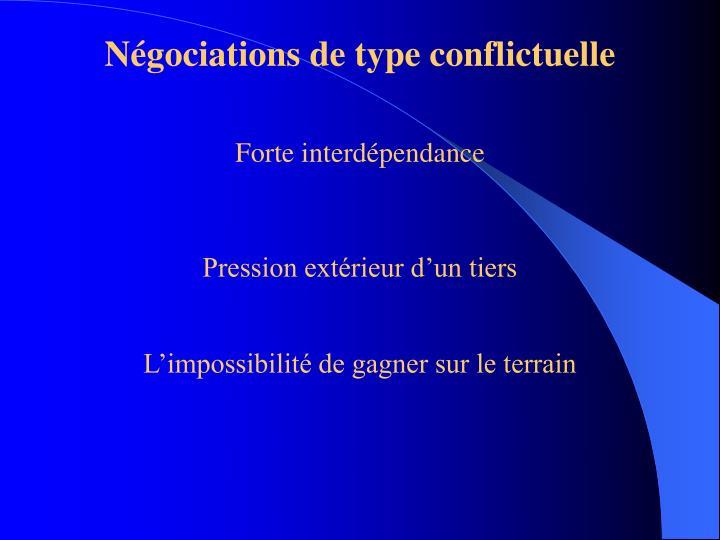 Négociations de type conflictuelle