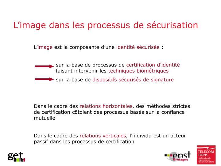 L'image dans les processus de sécurisation