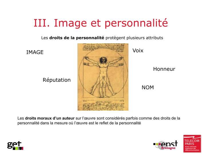 III. Image et personnalité