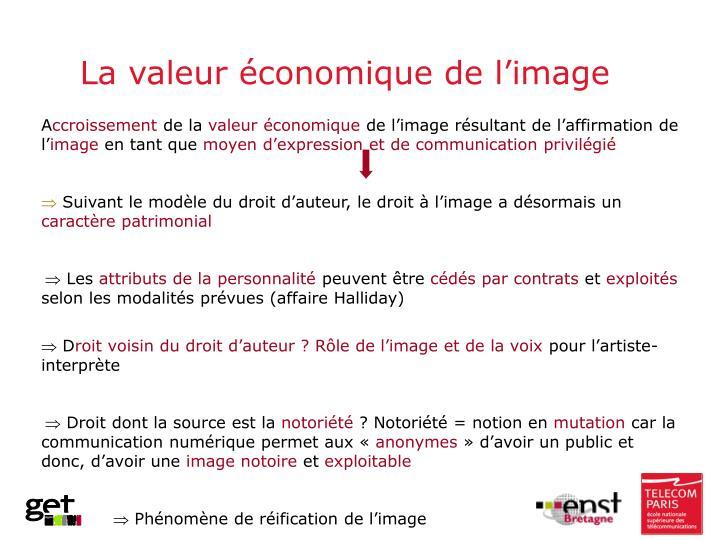 La valeur économique de l'image