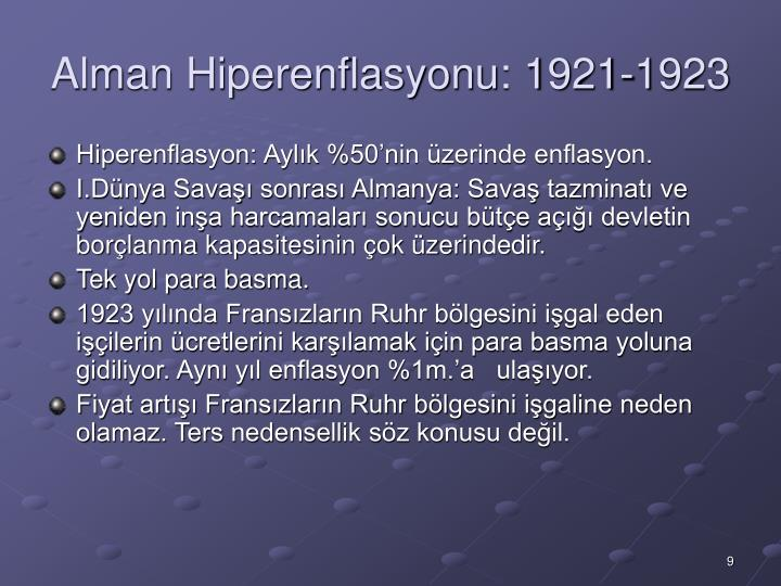 Alman Hiperenflasyonu: 1921-1923