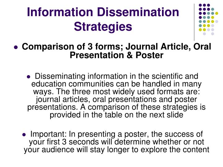 What is Information Dissemination