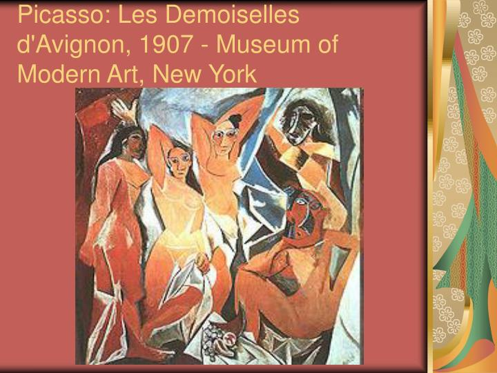 Picasso: Les Demoiselles d'Avignon, 1907 - Museum of Modern Art, New York