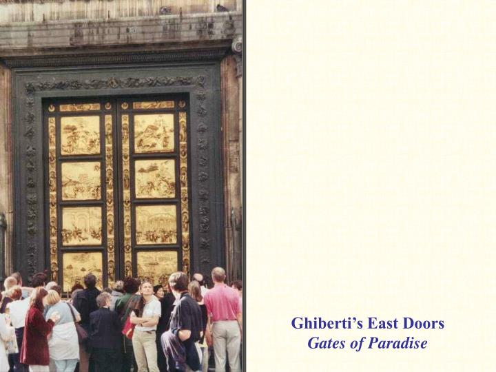 Ghiberti's East Doors