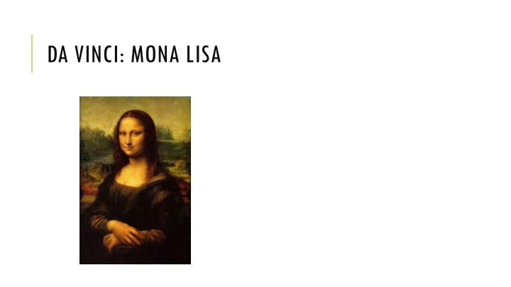 Da Vinci: Mona Lisa