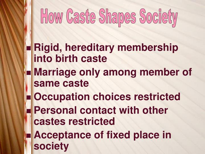 How Caste Shapes Society
