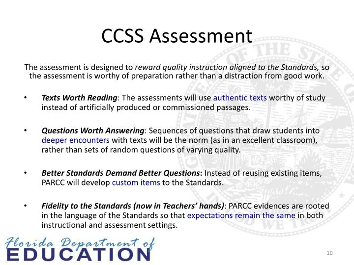 CCSS Assessment