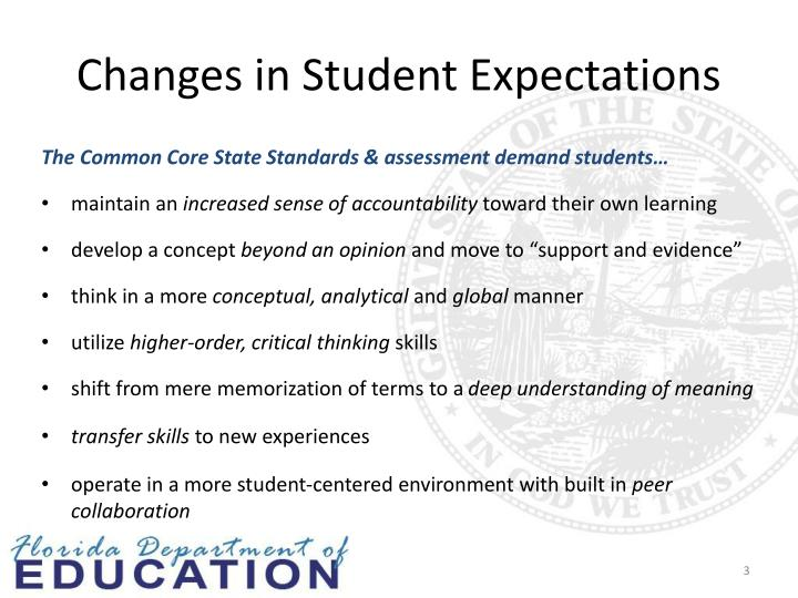 Changes in Student Expectations