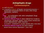 antiepileptic drugs carbamazepine