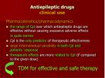 antiepileptic drugs clinical use