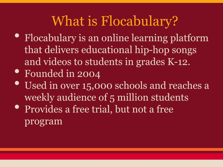 What is Flocabulary?