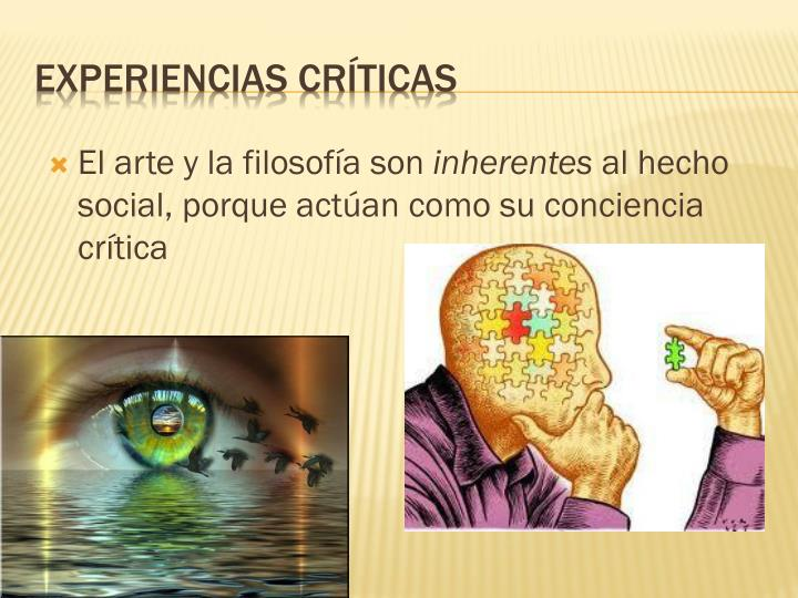 El arte y la filosofía son