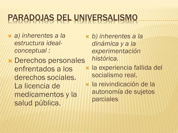 Paradojas del universalismo