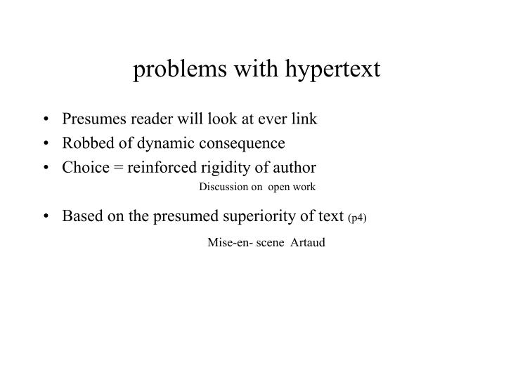 problems with hypertext