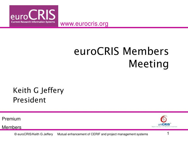 Eurocris members meeting