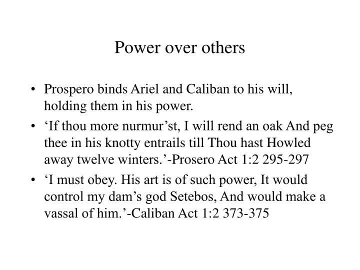 Power over others