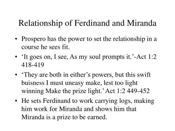 Relationship of Ferdinand and Miranda