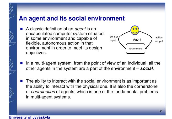 An agent and its social environment