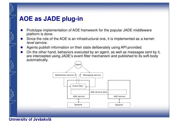 AOE as JADE plug-in
