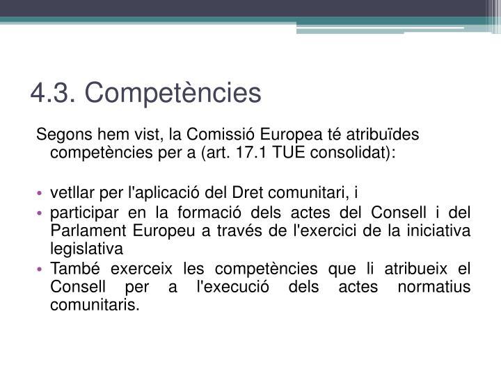 4.3. Competències