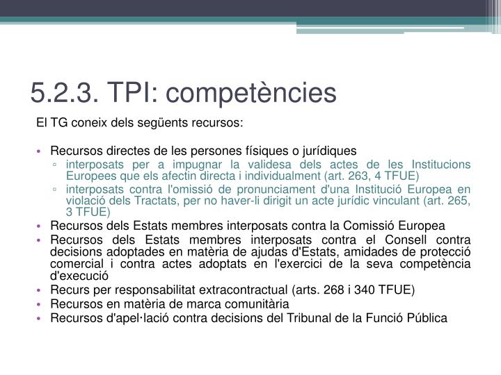 5.2.3. TPI: competències