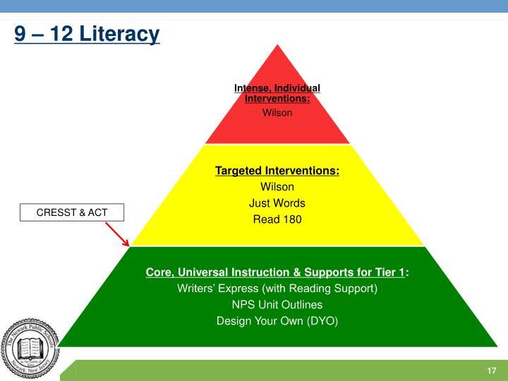 9 – 12 Literacy