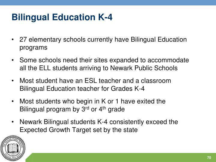 Bilingual Education K-4