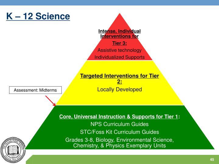 K – 12 Science